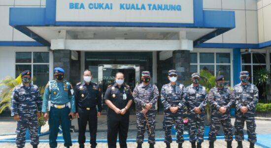 Bea Cukai Kuala Tanjung Terima Kunjungan Danlanal Tanjungbalai Asahan