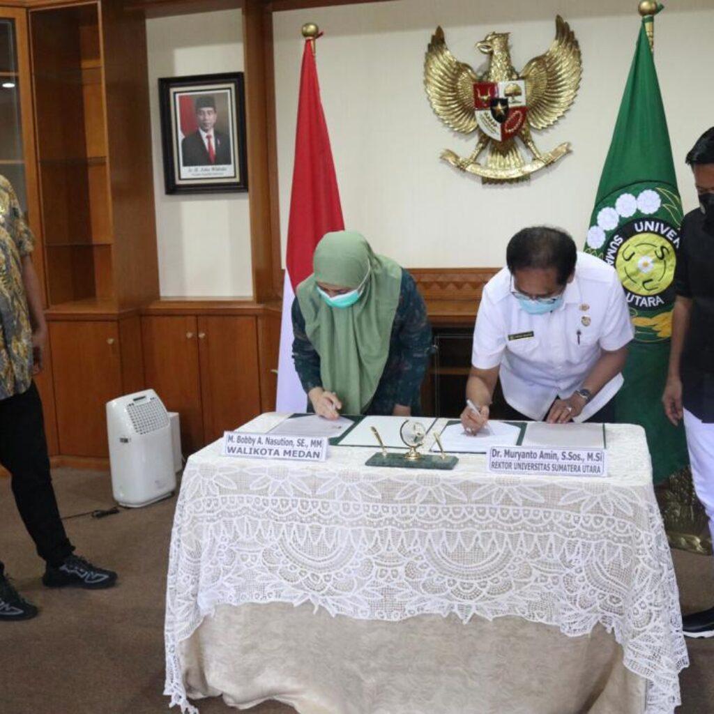 Pemko Medan dan USU Jalin MoU Pelaksanaan Kegiatan Pendidikan